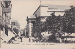 Bv - Cpa LORIENT - Eglise Saint Louis Et Rue Traversière - Lorient
