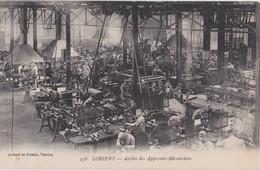 Bv - Cpa LORIENT - Atelier Des Apprentis Mécaniciens (cachet Du Vaguemestre) - Lorient