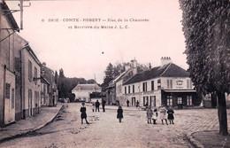 77 - Seine Et Marne - BRIE COMTE ROBERT - Rue De La Chaussée Et Barriere Du Maine - Café A La Barriere Du Maine - Brie Comte Robert