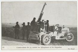 L'auto-canon De 75, Contre Les Aéroplanes Et Les Zeppelins Carte Postale Noir Et Blanc. Phot. Branger - Materiale