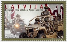 Latvia Lettland Lettonie 2021 (13) Latvian National Guard - 30th Anniversary - Lettonia