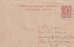 1918. Annullo Ambulante ANDRETTA - SPARANISE, Su Cartolina Postale Da Scauri A Tufo, In Provincia Di Avellino - Marcophilia