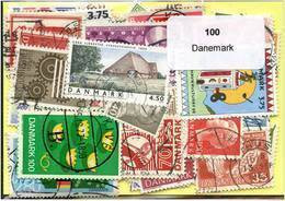 Lot 100 Timbres Danemark - Alla Rinfusa (max 999 Francobolli)