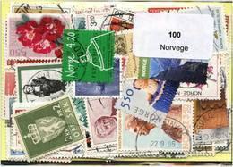 Lot 100 Timbres Norvege - Alla Rinfusa (max 999 Francobolli)