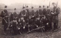 Lot Soldats Belges / Belgische Soldaten 12 ème De Ligne Fusil Mitrailleur BAR Feldpostkarte Tirailleur Liégeois - Guerre 1914-18