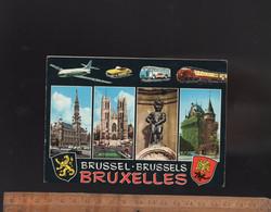 BRUXELLES : Multivues Avec Avion Train TEE Auto Dinky Mercedes SL Bus - Cartas Panorámicas