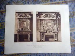 GRAVURE 1898 CHATEAU DE CADILLAC SUR GARONNE GIRONDE CHEMINEE  Moniteur Des Architectes JULES VIATTE   ARCHITECTE - Prints & Engravings