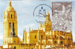 SPAIN. MAXICARD FIRST DAY. SEGOVIA CATHEDRAL. WORLD HERITAGE. 2015 - Cartes Maximum