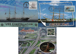 United States USA 2004 2015 3 Maximum Card TrasnporTransport Ship Sailboat Helicopter Bridge Viaduct Highway Road - Sin Clasificación