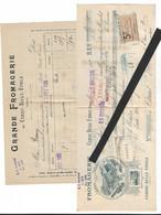 Facture Et Mandat  GRANDE FROMAGERIE DE CERISY BELLE ETOILE  Clas 11 N099 - 1900 – 1949