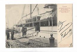 Ostende  Sa Majesté Léopold II  Yacht L'alberte  1905 - Oostende