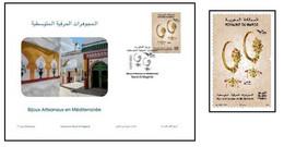 """2021- Maroc- Euromed 2021 """"Bijoux Traditionnels Méditerranéens"""" FDC & 1V MINT** - Emissions Communes"""