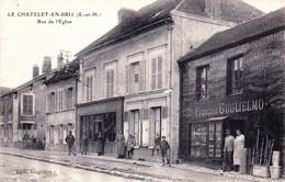 77 - Seine Et Marne - LE CHATELET En BRIE - Rue De L Eglise - Petits Commerces - Other Municipalities