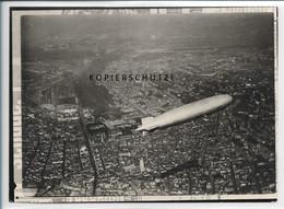 ZZ-5553/ Zeppelin über Stuttgart   Seltenes Foto Luftbild 18 X 13 Cm   - Stuttgart