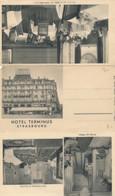 Klapp CPA Strasbourg Straßburg Elsass Bas Rhin, Hotel Terminus - Other Municipalities