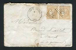 Rare Lettre De Celles Pour Muret ( 1871 ) - Cachet Convoyeur Station FOIX F.T - 1849-1876: Classic Period