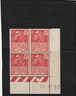 ///  FRANCE  //// Coin Daté N° 272 ** Côte 8€ - 1930-1939