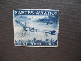 Vignette Label Stamp Vignetta Filatelico Aufkleber France  Nantes Aviation  1910 - Aviation