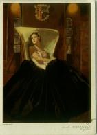 NANNI SIGNED 1930s  ADVERTISING POSTCARD - GLAMOUR WOMAN - VELLUTI LANERIE SETERIE AUGUSTO MORETTI - ROMA (BG1823) - Nanni