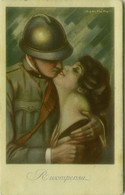 NANNI SIGNED 1910s  POSTCARD - SOLDIER KISSING WOMAN - RICOMPENSA - N.26 C (BG1824) - Nanni