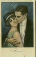 NANNI SIGNED 1910s  POSTCARD - COUPLE - SEMPRE / FOR EVER  - N.26 B (BG1825) - Nanni