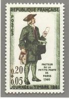 ENTIER POSTAL JOURNEE DU TIMBRE 1961 Carte Postale (International 2021) VOIR SCANS - Tarjetas Cartas