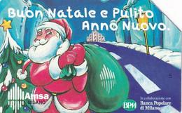 ITALY - Santa Claus, Christmas 1997, Amsa, Exp.date 31/12/99, Used - Openbare Reclame