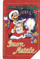 ITALY - Pinocchio, Merry Christmas 2003, Exp.date 31/12/04, Used - Openbare Reclame