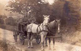Deutsche Soldaten  Karren Pferde - Guerre 1914-18