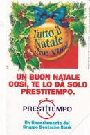 ITALY - Christmas, Prestitempo, Exp.date 31/12/98, Used - Openbare Reclame