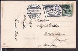 Flaggenstempel Karlsruhe 1909 - Covers & Documents