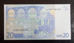 20 Euro Draghi R027 L43 UNC Germany / Finland - 20 Euro
