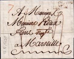 S22 - SICILIA - PREFILATELICA DA PALERMO A MARSIGLIA 1790 - ...-1850 Voorfilatelie