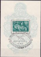 Ungarn, 1940, 639 Block 8, Used Oo , König Matthias Hunyadi - Blocks & Sheetlets