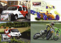 Belgium Bulgaria Germany 1999 2013 4 Maximum Card Sport Automobile Motorbike Transport Car Motorcycle - Otros (Tierra)