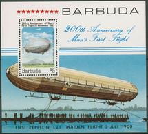 Barbuda 1983 Luftfahrt Zeppelin LZ-127 Block 75 Postfrisch (C94208) - Antigua And Barbuda (1981-...)