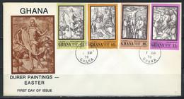 RZ-/-007- LETTRE FDC GHANA NON DENTELÉ, ALBRECHT DÜRER  , VOIR IMAGES POUR DETAILS, IMAGE DU VERSO SUR DEMANDE, - Engravings