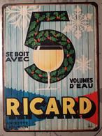 Plaque Métal Ricard Planche - Posters