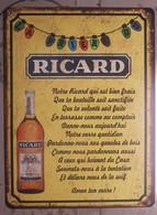Plaque Métal Ricard Prière - Posters