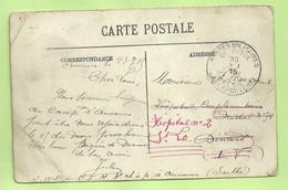 "Kaart CAMP D'AUVOURS (centre D'instruction) Met Stempel PMB 30/7/15 Naar ""Hopital Comp. Dinand + Hopital N°2 St-Lo""(3470 - Esercito Belga"