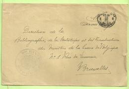 """Brief Stempel PMB 5 Op 19/3/19 Naar """"Bibliografhie De La Statistique Et Des Transactions...""""   (B5635 - Posta Militare"""