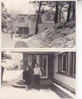 Le Zoute Villa Paquebot En 1939 Familles Van ZUYLEN Et PELTZER 2 Photos Format Carte Postale - Plaatsen