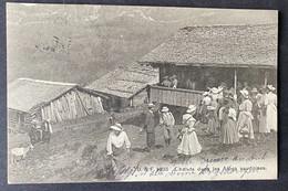 Chalets Dans Les Alpes Vaudoises/ Ländliches Volk/ Ziege - VD Vaud