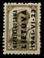 BES 2WK LITAUEN Nr 7 Postfrisch X70A4B2 - Occupation 1938-45