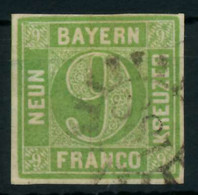 BAYERN MÜHLRADSTEMPEL AUF Nr 5cIII GMR 188 Gestempelt X88032A - Bavaria