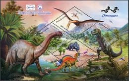 Korea 2010. Europhila 2010. World Of Dinosaurs (MNH OG) Miniature Sheet - Korea (Nord-)