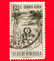 VENEZUELA - Usato - 1952 - Stemma Dello Stato Di Sucre - Arms - 60 P. Aerea - Venezuela