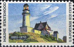4830 Mi.Nr. 1003 USA (1970) 150 Years Maine Statehood, Lighthouse At Two Lights By Edwar Ungebraucht - Nuevos