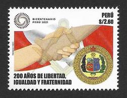 Peru 2021 , Bicentenary , Mason Lodge , MNH - Peru
