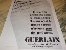 ANCIENNE PUBLICITE  PARFUMEUR  NOUS N AVONS PAS DE PRENOM 1930 - Other